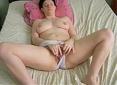 Wife white knickers rubbing