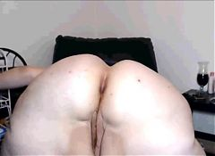 White mature bbw anal show!