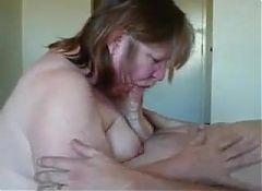 gorda madura mamando y follando