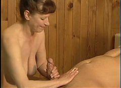 Lovely German Mature Fucked inn Sauna