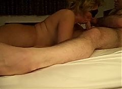 Mature Blindfolded Wife Sucks Cock