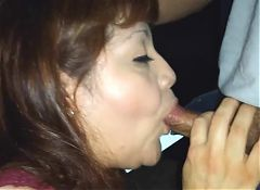Rae Lynn giving another blow job with cumshot