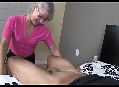 Older Moms handjob and blowjob