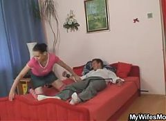 Naughty time with granny and son-inlaw