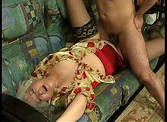 Russian mature Louisa fucked on sofa