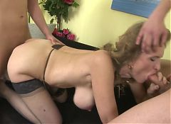 BRILLIANT MOM suck and fuck two young sons