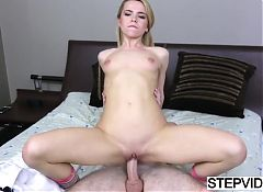 Tiny stepsis Alina West gets wrecked good