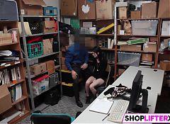 Skinny Shoplifter Gets Drilled