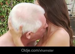 Petite hot mistress masturbates fucking old cheating hubby