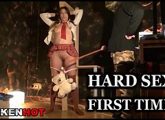 Krakenhot - Cosplay girl with Old Man in a BDSM X video