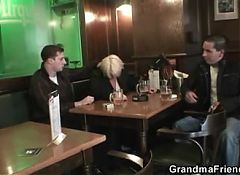 Two buddies pick up boozed old granny