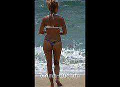 en string a la plage