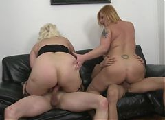 Old but hot mature mothers riding young cocks