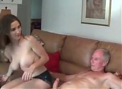 Busty Molly Jane Jerks Off Father In-Law