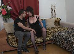 Mature sexy mom fucks lucky young son
