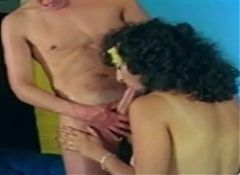 Massive cumshot on vintage big tits