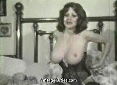 Kitten Natividad Plays with Her Huge Tits (1970s Vintage)