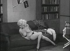 A FINE ROMANCE - vintage blonde striptease