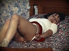 IN THE WARM ROOM - vintage British brunette beauty