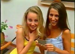 Vintage Euro Teens get each other off for stranger