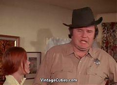 Beautiful Redhead Teen Seduced Fat Old Sheriff (Vintage)