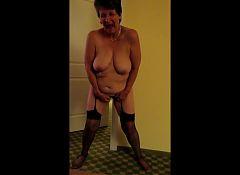 Granny Standing Masturbating pt 2