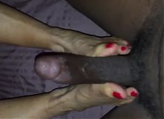 Footjob from mature Wife 2