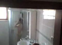 Chinese Mature Wife in Shower.