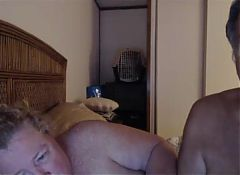 grandpa and grandma play on webcam