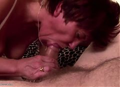 Mature pervert mother making the best blowjob