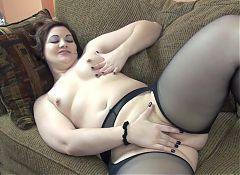 Chubby girl firm boobies masturbates.