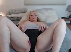 Mature blonde solo