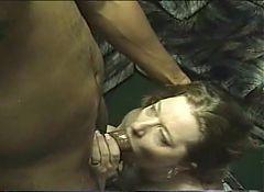 older wife gets big load of cum in her face