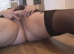 true bbw with hairy pussy and big round ass stri.flv