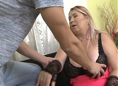 Huge breasted mature mothers fucks lucky son