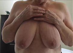 Granny displays her titten.