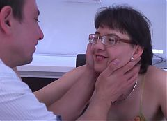 Unshaved mature mom fucking with kinky son