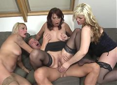 Hot mature mothers sharing young sons