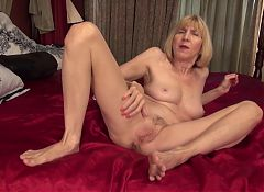 Kinky granny with hungry vagina and ass