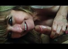 Hot Wife Gives BJ and Swallows Cum