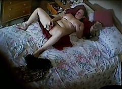 Wife's aunt indulging herself. Hidden cam mast