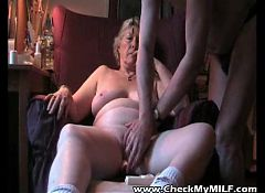 Check my granny MILF playing with her wrinkled used pussy