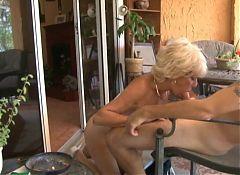 Big tits nudist grandmother and grandson