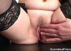 Threesome sex with old woman