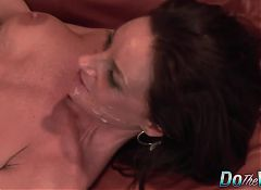 Mature wife banged and facial in front of husband