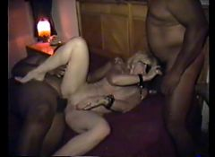 cuckold's wife cuffed painted and fucked