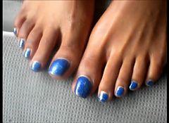 MILF Mary Gabriel Blue Toenails