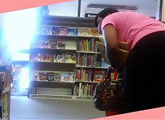 Ebony Teacher Bending for my Book Worm!