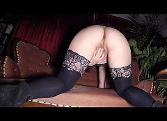Pregnant slutwife rewarded with a creampie
