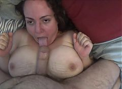 AMAZING Armature Wife Gives AWESOME Tit Job!